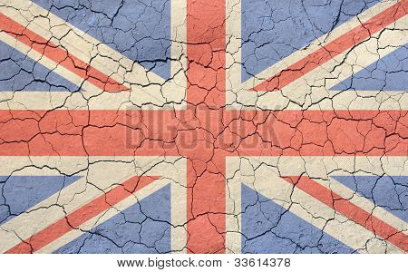 Faded and Cracked Union Jack