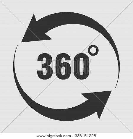 Icons 360 Degree Rotation, Degree Of Rotation, Angle Indicator