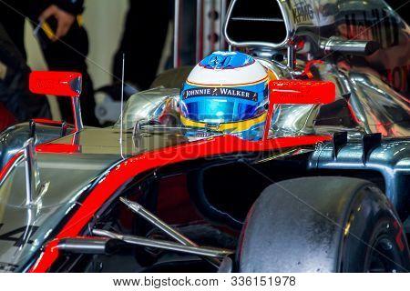 Jerez De La Frontera, Spain - Feb 03:  Fernando Alonso Of Mclaren Honda F1 Waiting On The Pits On Tr