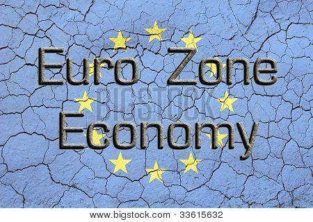 Euro Zone Economy EU Flag