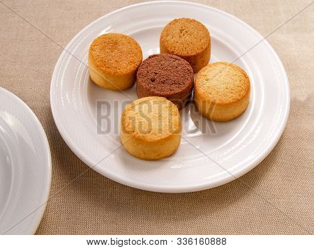 A Selection Of Different Italian Amaretti Biscuits Cup Of Coffee With A Selection Of Amaretti Biscui