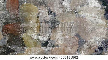 Abstract Painting. Muted colors. 3D rendering