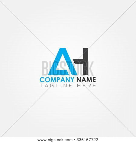 Initial Letter Ah Simple Logo Vector Template. Simple Ah Letter Logo Design. Ah Font Type Logo.