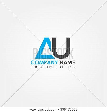 Initial Letter Au Simple Logo Vector Template. Simple Au Letter Logo Design. Au Font Type Logo.