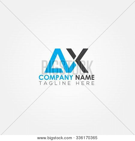 Initial Letter Ax Simple Logo Vector Template. Simple Ax Letter Logo Design. Ax Font Type Logo.