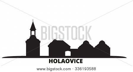 Czech Republic, Holasovice City Skyline Isolated Vector Illustration. Czech Republic, Holasovice Tra