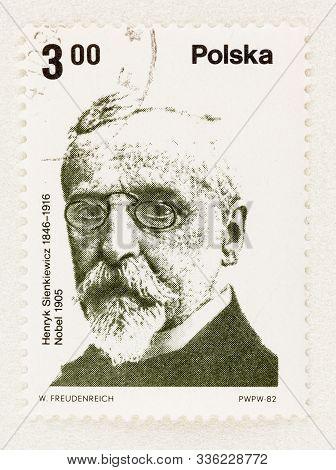 Seattle Washington -november 21, 2019: Nobel Prize Laureate On Postage Stamp Of Poland. Scott # 2517