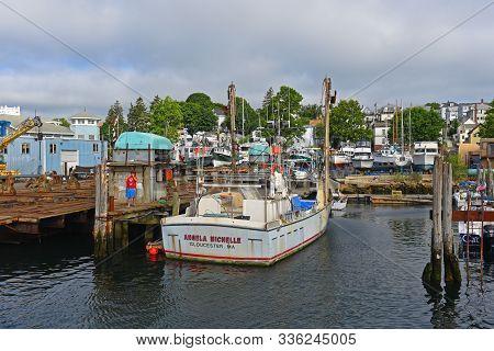 Gloucester, Ma - Jul 25, 2015: Fishing Boat At Port Of Gloucester City, Gloucester, Massachusetts, U