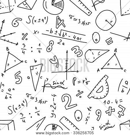 Cognitive Banner Geometry Numbers Randomness. Drawing Art Style Mathematical Inventions, Calculation