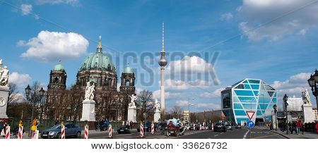 The Berliner Dom, TV tower and Humboldt Box