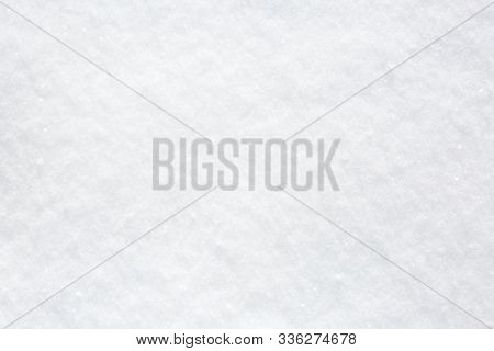 Texture  of natural snow. Top view of the snow.