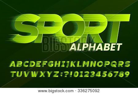 Sport Alphabet Font. Fast Speed Effect Dynamic Letters And Numbers. Stock Vector Typescript For Your