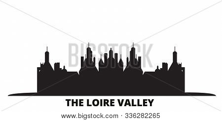 France, The Loire Valley City Skyline Isolated Vector Illustration. France, The Loire Valley Travel