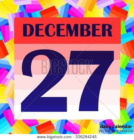 December 27 Icon. For Planning Important Day. Banner For Holidays And Special Days. Twenty-seventh D