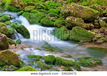The Picturesque Mountain Stream