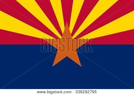Arizona State Flag. Simple Flat Vector Stock Illustration Eps10