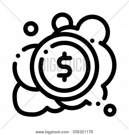 Laundered Cash Money Icon Vector. Outline Laundered Cash Money Sign. Isolated Contour Symbol Illustr