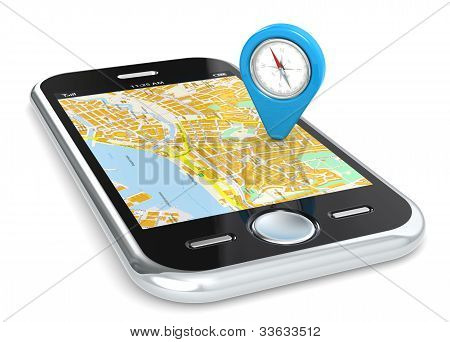Smartphone Gps, Pointer.