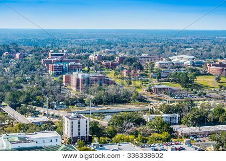 City View From Inside The Old Capital Of Tallahassee, Florida
