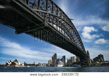 Sydney Harbour Bridge And Opera House From Low Level