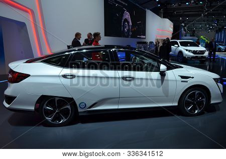 Frankfurt, Germany, September 12-2017: Honda Clarity At Iaa 2017