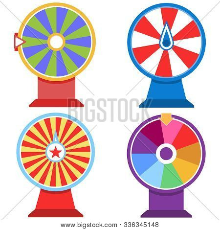 Wheel Of Fortune, Set Of Wheel Of Fortune. Icon Wheel Of Fortune.