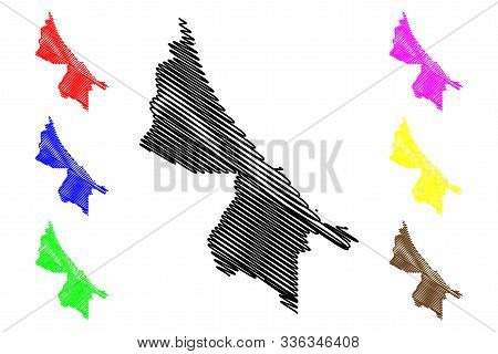 Limon Province (republic Of Costa Rica, Administrative Divisions Of Costa Rica) Map Vector Illustrat
