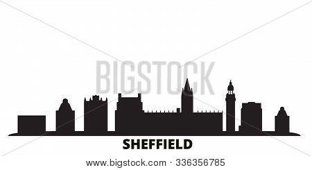 United Kingdom, Sheffield City Skyline Isolated Vector Illustration. United Kingdom, Sheffield Trave
