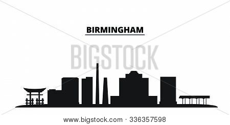 United States, Birmingham City City Skyline Isolated Vector Illustration. United States, Birmingham