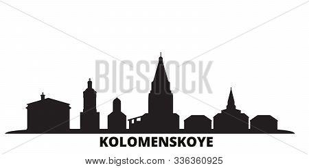 Russia, Kolomenskoye, Church Of The Ascension City Skyline Isolated Vector Illustration. Russia, Kol