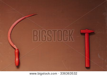 Red Sickle And Hammer Communism Ussr Russia Revolution