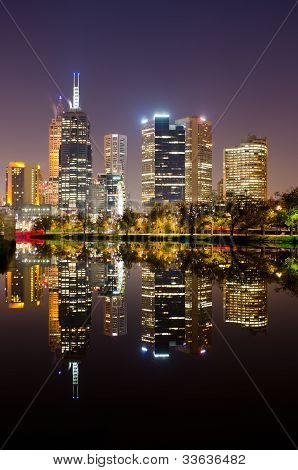 Perfect Reflection - Melbourne City Skyline