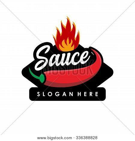 Sauce Logo, Hot Food Logo Concept Vector. Red Chili Logo Design Logo. Hot Chili Icon Symbol