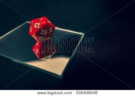 New 20 Sided Die With 1 Faceing Straight Up