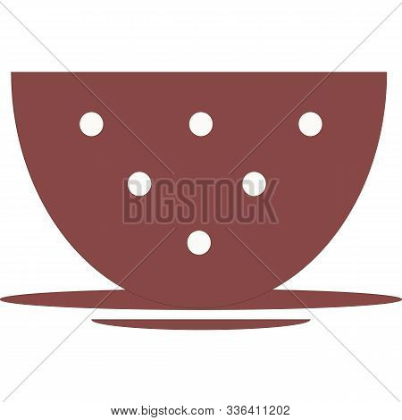 Isolated Empty Red Mug, Cup, Polka Dots,  Illustration