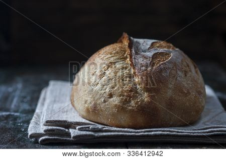 Sourdough Bread. Freshly Baked Organic Wheat Bread.