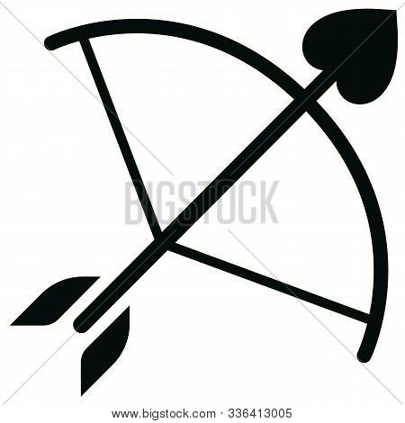 Bow And Arrow  Linear Icon Isolated On Transparent Background, Bow And Arrow Transparency Concept Ca