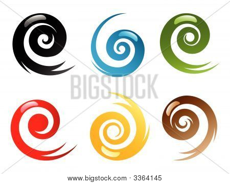 Swirly Element Set