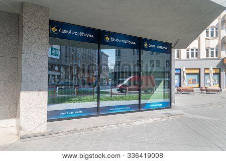 Ostrava, Czech Republic - August 29, 2019: Ceska Pojistovna Insurance Company.