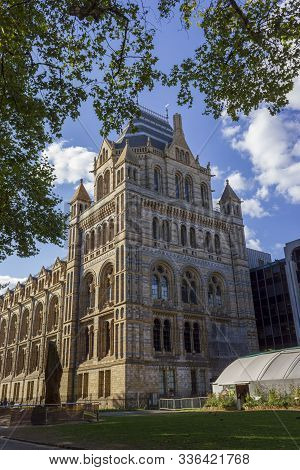 London, Uk - September 9, 2018: Natural History Museum Facade On April 16, 2013 In London, Uk. The M
