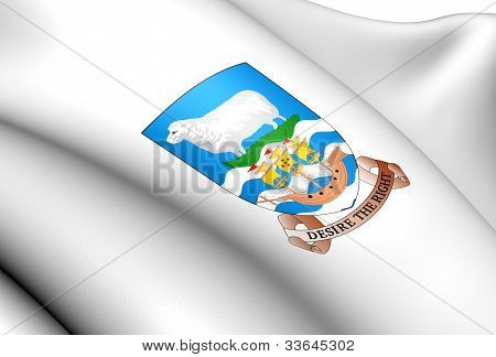 Falkland Islands Coat of Arms. Close Up. poster