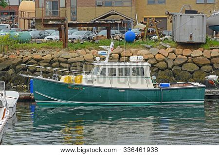 Gloucester, Ma, Usa - Aug. 8, 2015: Fishing Boat At Port Of Gloucester City, Gloucester, Massachuset