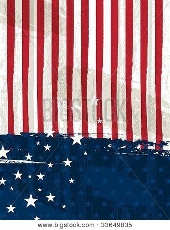 Usa Background , Vector Illustration