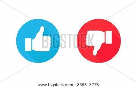 Thumb Up And Thumb Down Icon. Like And Dislike. Vector Illustration. Eps 10