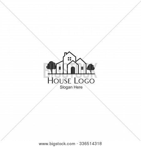 Vector Icon Of Isolated House On A White Background. Vector Icon House. Simple Home Icon. Home Icon