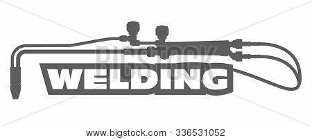 Welding Emblem - Oxy Acetylene Cutting Torch, Weld Service Logo