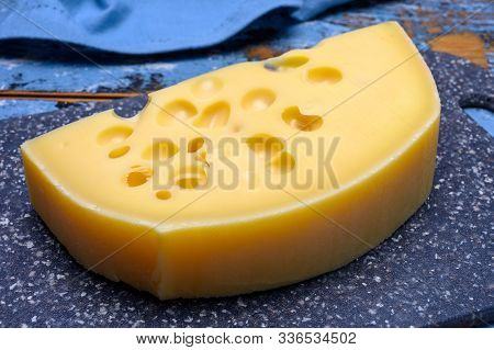 Cheese Collection, French Hard Cheese With Holes Emmentaler