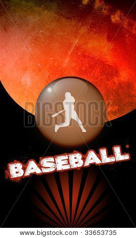 Abstract baseball background with space (poster web leaflet magazine) poster
