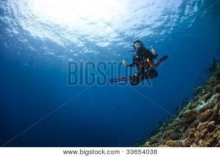 Woman Scubadiving
