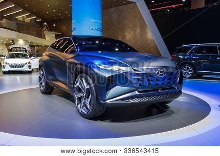 Hyundai Hdc-7 On Display During Los Angeles Auto Show.